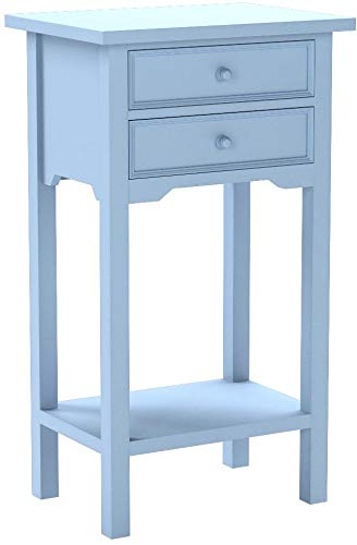Set of 2 Multi-Purpose Tables (4 Colors to Choose from) (Light Blue) by O'NeillGifts