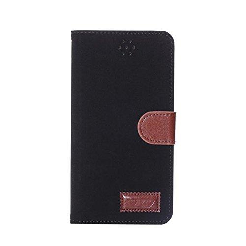 iPhone 6 Hülle,Apple iPhone 6 Hülle (5.5 Zoll) Lifetrut®[MS Schwarz] Schutzhülle Flip PU Ledertasche Ständer Schutzhülle Tasche Hülle Case Cover mit Kreditkartensteckplätze für Apple iPhone 6 (5.5 Zol