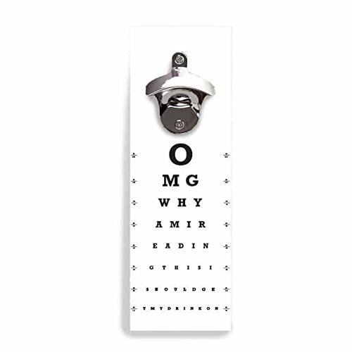 Wall Mounted Bottle Opener Eye Chart