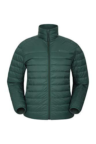 Mountain Warehouse Featherweight Mens Down Jacket - Water Resistant Dark Khaki Large