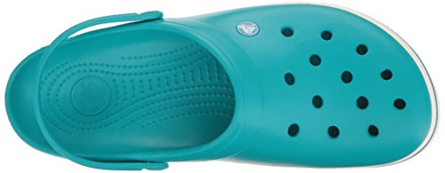 Crocs Unisex Adult Crocband Clogs Blue (Turquoise/Oyster) LataL