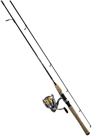 Daiwa CR30-3BI G702M Crossfire Spinning Combo, 30 Reel Size, 4 Bearings, 7 6 Length, 2Piece Medium Power, Ambidextrous