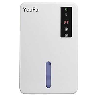 Dehumidifier for Home,Powerful Portable Automatic Dehumidifier with 1500ml Water Tank,Winter Star Safe Effortless Humidity Control for Kitchen,Basement,Bedroom,Bathroom or Wardrobe Approx 1200 cu.ft.