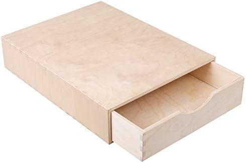 Creative Deco Pequeña Cajonera Madera | 1 Cajón | 33 x 25 x 7 cm | Mini Armario de Almacenaje | Madera Contrachapada sin Tratar Pintar, Decoupage y Decoración: Amazon.es: Hogar