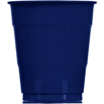 Navy Blue Plastic Cups - 12 Ounce Navy Blue Cups - 20 Count