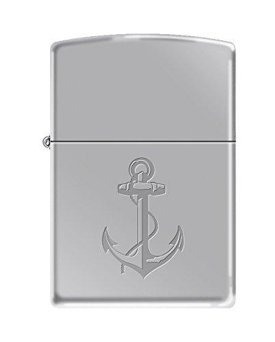 Zippo US Navy Anchor Symbol High Polish Chrome Pocket Lighter