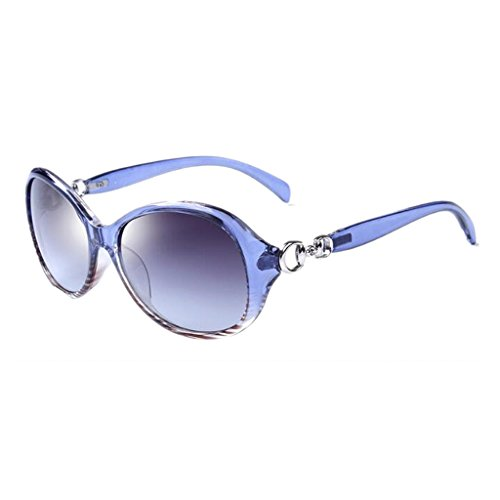 Gafas Aire Estilo Libre Coreano Gafas de Conducción Redonda UVB Cara Moolo Vintage de Clásicas Visual Al Azul Harajuku Azul Resina Larga HD PC Color Antideslumbrante Hombres UVA Gafas Sol Cara Sol pXnvavqFw
