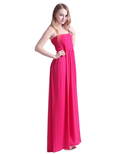 493ad39f121 HDE Women s Strapless Maxi Dress Plus Size Tube Top Long Skirt Sundress  Cover Up