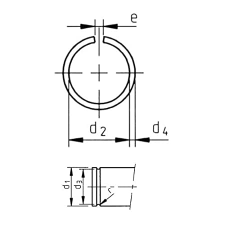 22 mm Runddraht Sprengring Sicherungsring DIN 7993 Form A f/ür Welle 10 St/ück