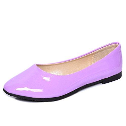 Nonbrand Women's Heel Ballerinas Purple ryqIu7qjcA