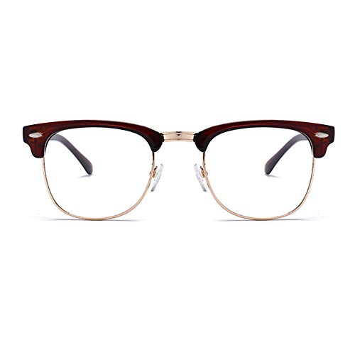 Unisex Blue Light Blocking Glasses Square/Half Frame Eyeglasses Frame Anti Blue Ray for Computer Game -