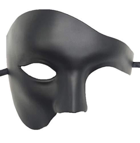 Biruil Phantom of The Opera Masquerade Mask Half Face Venetian Mardi Gras Party Mask -