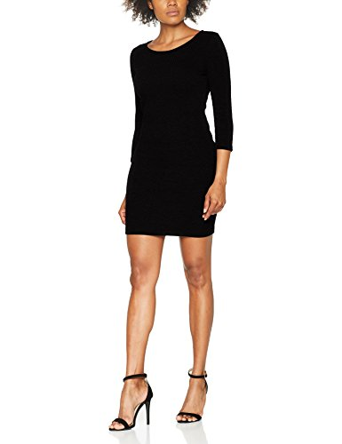 TOM TAILOR DENIM Structured Bodycon Dress, Vestido para Mujer Negro (Black 2999)