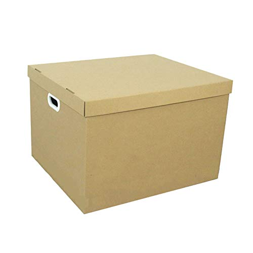 KKCF-HE Cajas De Cartón Cubierta 5 Capas Corrugadas Mango Perforado Paquete Plano Suministros De Almacenamiento 60x50x40cm...