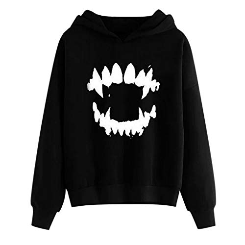 Sweatshirt for Women Hoodies, BXzhiri Womens Halloween Gothic Scary Nice Long Sleeve Sweatshirt Hooded Pullover Blouse (Jacobs Jacket Marc Men Leather)