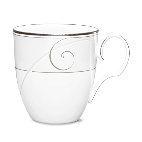 Noritake Platinum Wave #9317 Coffee Mugs ()