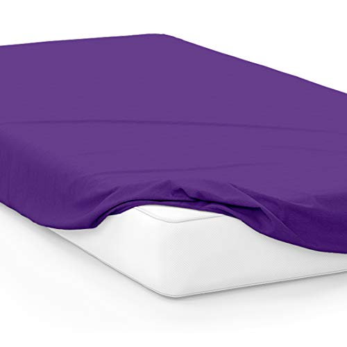 American Pillowcase College Dorm Twin XL Bed Fitted Mattress Sheet Ultra Soft Hypoallergenic Wrinkle-Free, Stain, and Fade Resistant - Purple PMS 268