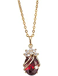 Cute 18K Gold Plated Crystal Pendant With Necklace for Women