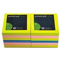 Notas emergentes plegadas en abanico 3 x 3 4 Neon Colors 12 100-Sheet Pads /Pack