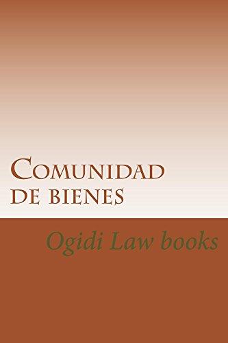 Descargar Libro Comunidad De Bienes: E Law Book Ogidi Law Books