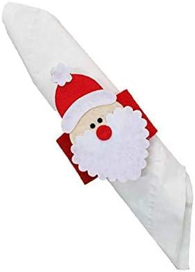 Toyvian 12 st/ücke Weihnachtsserviettenringe Serviettenschnallen Halter f/ür Esstisch Weihnachtsschmuck