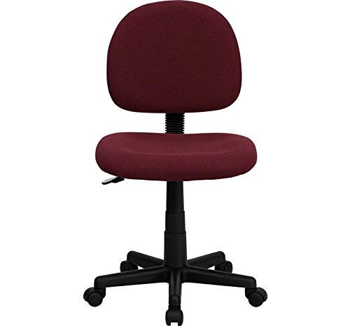 Flash Furniture Mid-Back Burgundy Fabric Swivel Task Chair