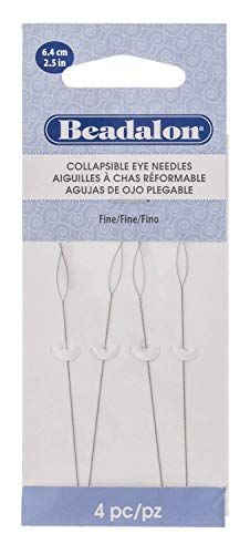Beadalon 700F-102 Collapsible Eye Needles 2.5-Inch Fine 4 Pack (Best Out Of Waste Wind Chime)