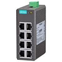 MOXA EDS-208 - 8 Ports Entry Level Industrial Ethernet Switch with 8 10/100BaseT(X) Ports, with -10 to 60°C Operating Temperature