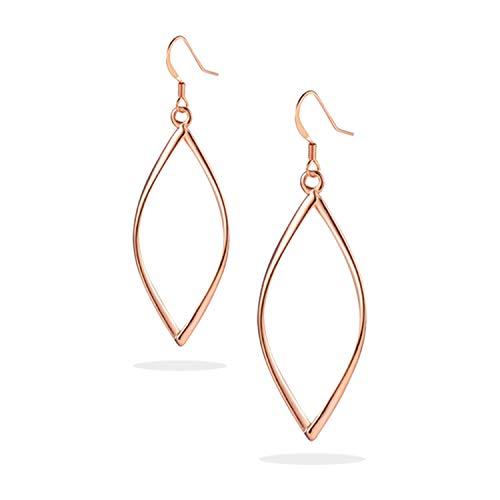 - KINGSIN Rose Gold Hoop Earrings for Infinity Dangle Women Girls