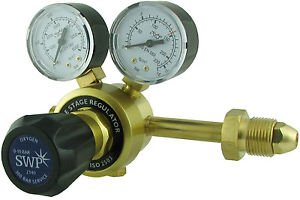 Langley Oxygen Single Stage 2 Gauge Regulator - Side Entry