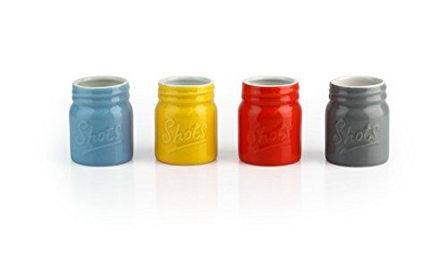 Barbuzzo Mason Ceramic Shot Glass (Set of 4)