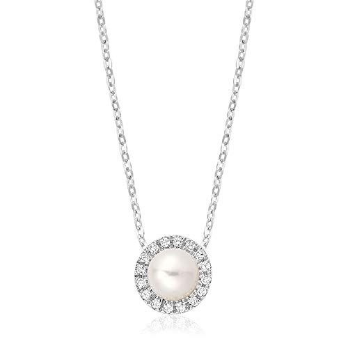 Jewels By Erika P-10PL10 10K Gold Pearl & Diamond Pendant -