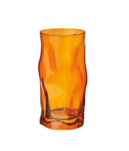 Bormioli Rocco Sorgente 15.5 Cooler Glasses, Orange, Set of - With Glasses Orange