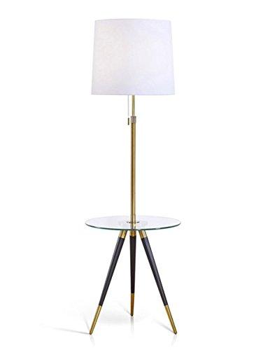 Hometrend Premiere Tripod Floor Lamp With Glass Tray Modern Floor