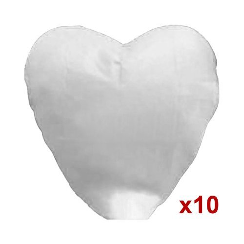 10pcs White Heart Shape Sky Fire Chinese Lanterns Paper Wish Lamp Candle for Wedding Christmas Party, Outdoor Stuffs