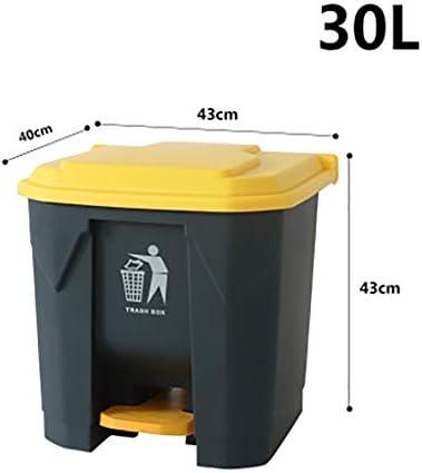 ゴミ箱環境桶リッド収納桶付き大型ペダル屋外脚 (色 : A1)