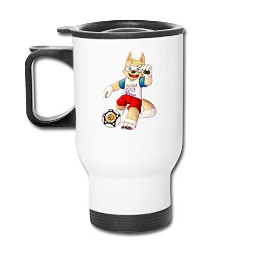 Price comparison product image VAbBUQBWUQ 2018-fifa-world-cup-zabivaka-deviantart-mascot-rus-world-cup-2018 Coffee / Tea / Car Mugs Cups Office Staff White 450ml