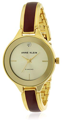 - Anne Klein Classic Silver Dial Stainless Steel Ladies Watch AK2702BYGB