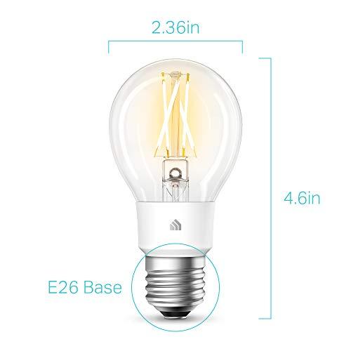 Kasa Smart Kasa Filament Smart, Soft White by TP-Link – WiFi Light Bulb, Works with Alexa & Google Assistant (KL50)