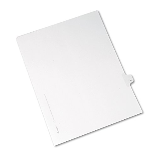 - Avery Individual Legal Exhibit Dividers, Allstate Style, 8, Side Tab, 8.5 x 11 inches, Pack of 25 (82206)