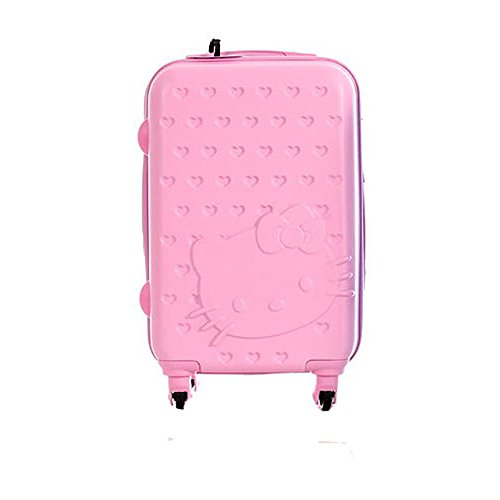 Hello Kitty KCP-1124 Lightweight Spinner Luggage 4 Wheel Travel Case 24 inch & Key Ring(Random Color) (Pink) by jisam trade