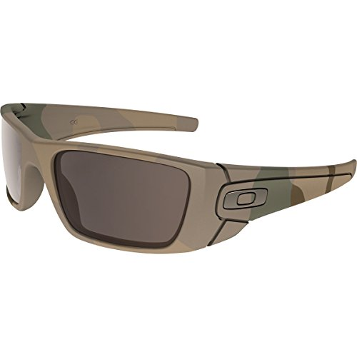 Oakley Men's OO9096 Fuel Cell Rectangular Sunglasses, Multicam/Warm Grey, 60 mm
