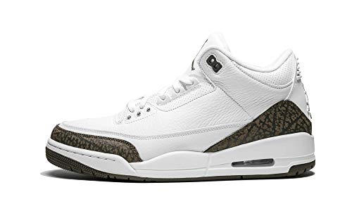 (Nike Men's Air Jordan 3 Retro Mocha White/Dark Mocha-Chrome 136064-122 (Size: 11))