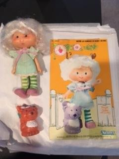 Vintage Angel Cake (1979) (Doll,Shirt, Tights, & Shoes) - Strawberry Shortcake (Retired) Doll - Collectible Replacement Toy - Loose (OOP Out of Package & Print)
