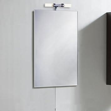 hudson reed specchio bagno con pensile e lampadina di 35w 800mm x 600mm specchiera