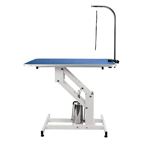 Pet Dog Grooming Table Adjustable Height- Foldable Drying Table w/Arm/Noose For Small & Large Dogs Cats Portable Non-Slip Heavy Duty Hydraulic Table Arm For Home, Maximum Capacity Up To 330lbs