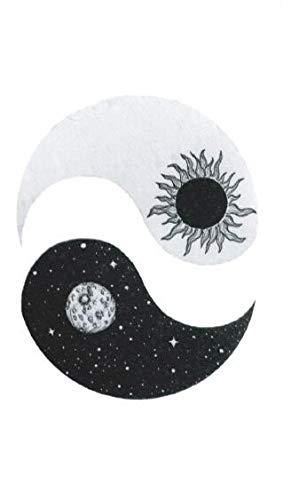 SanerLian Set of 5 Waterproof Temporary Fake Tattoo Stickers Taiji Yin Yang Planet Sun Moon ()