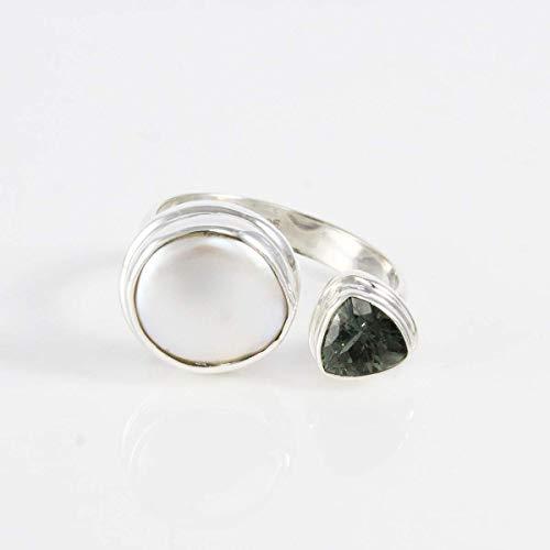 Bali spinner ring Véritable Argent Sterling 925 Bijoux face hauteur 6 mm taille 8