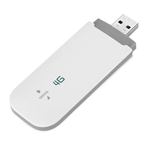 4G LTE USB Modem, Unlocked Pocket Wireless USB Network Adapter WiFi Router Network Hotspot with SIM/TF Card Slot Support…