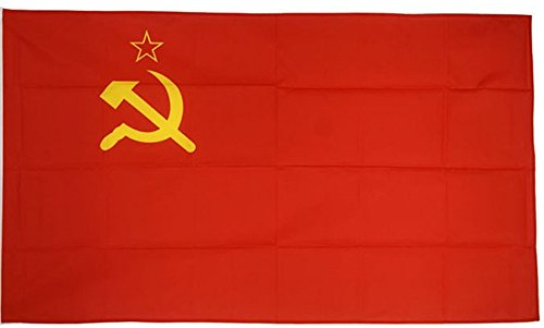 Aimto 3x5 ft USSR Soviet Union Flag - Bright Colors and Anti-Fading Materials -Union of Soviet Socialist Republics National Flags Polyester Canvas and Brass Buttonhole - Quality Assurance